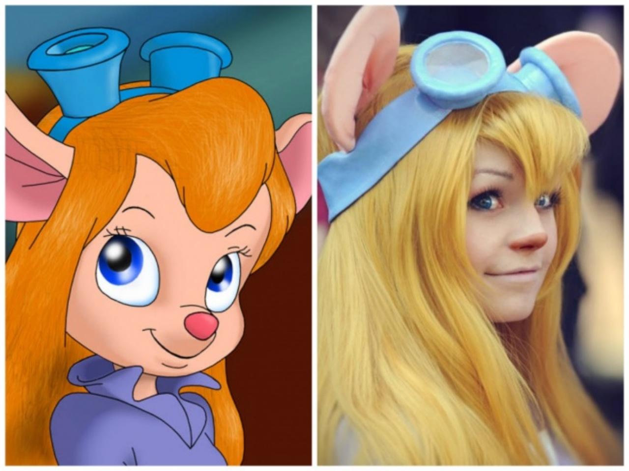 Look-alike of animated characters