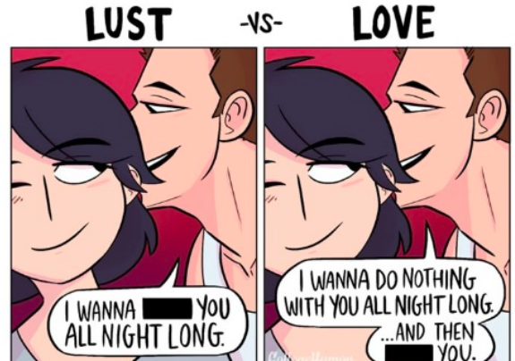 difference between love and lust