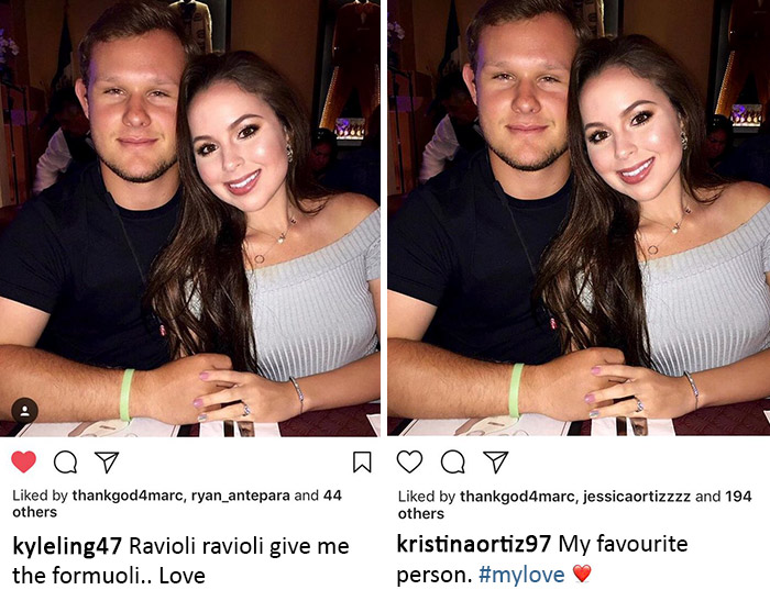 different captions
