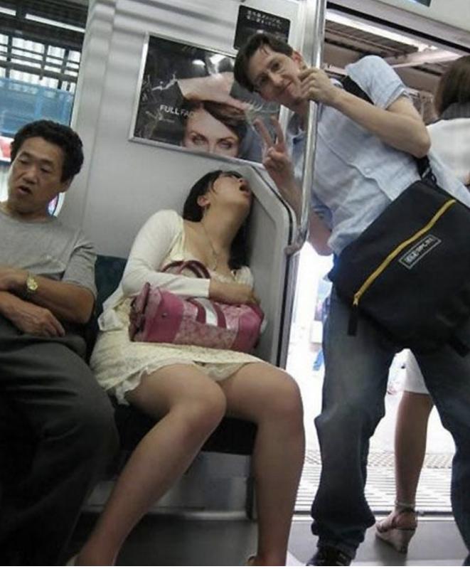 strangest people on subway