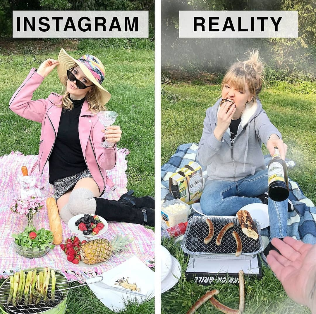 This Blogger Compared Instagram Vs Reality Photos Which Will