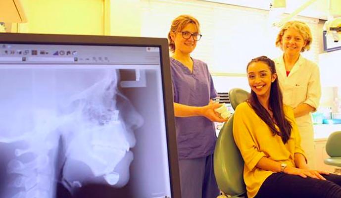 Girl with dental deformity Transformation