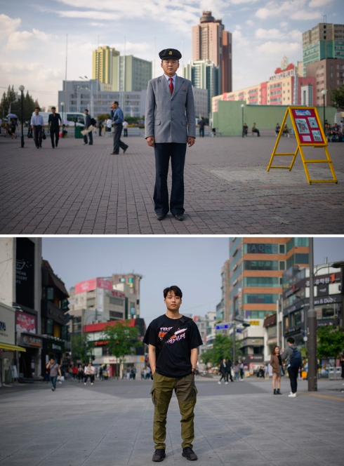 pictures showing difference north korea south korea