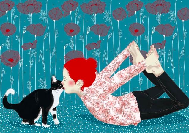 Italian illustrator on cats