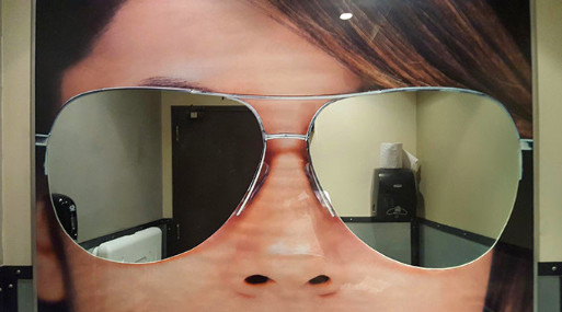Hilarious bathroom mirror designs
