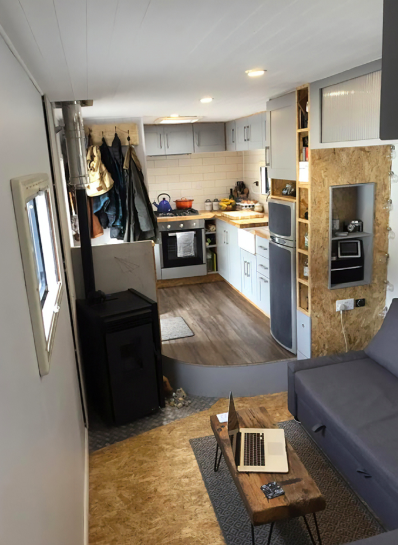 couple converted truck into luxurious home