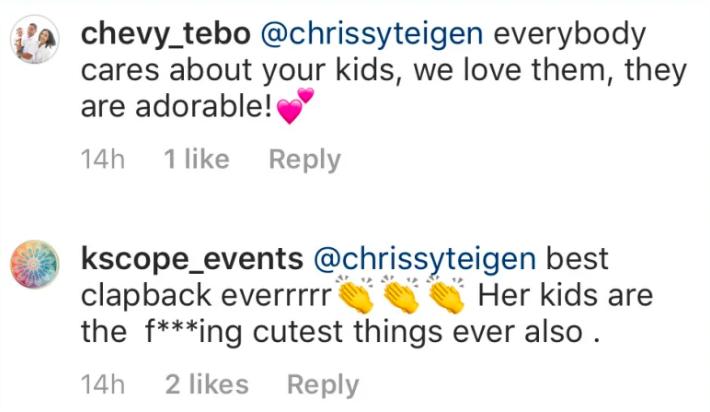 Chrissy Teigen Response To Troll bikini pics