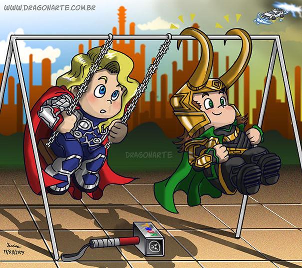 superheroes as kids