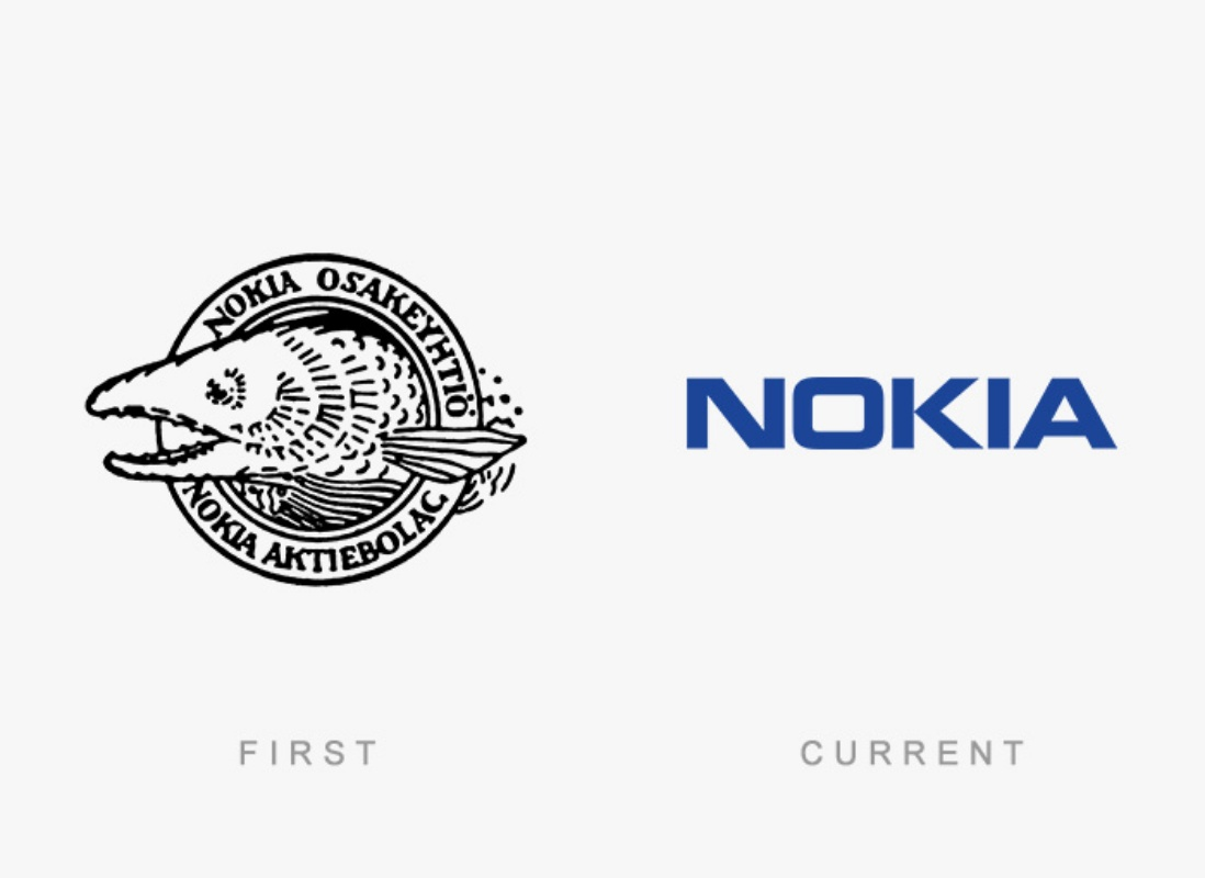 famous logos then and now